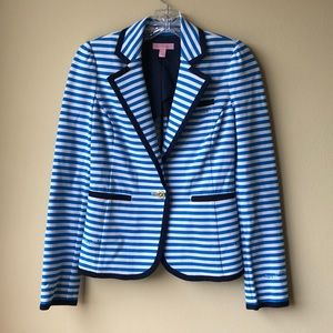 Lilly Pulitzer Blue Striped Jacket Never Worn!